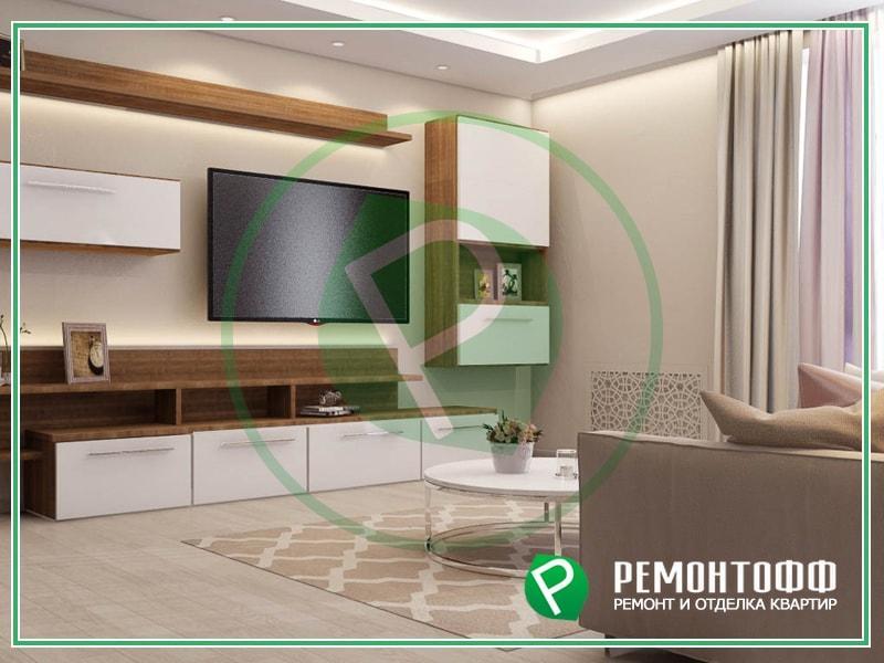 Дизайн гостиной 12м2